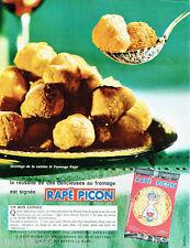 PUBLICITE ADVERTISING 115  1964  le fromage Rapé Picon