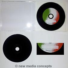 10 Vinyl CD Rohlinge CD-R 700 MB Schallplattendesign Label Italienflagge