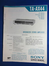 SONY TA-AX44 INTEGRATED AMPLIFIER SERVICE MANUAL FACTORY ORIGINAL
