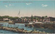 POSTCARD  EGYPT  SUEZ CANAL  ISMALIIA  The Dock