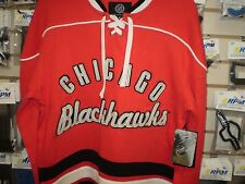 BLACKHAWKS MEN'S GIII CARL BANKS VINTAGE HOCKEY JERSEY KNIT SHIRT NEW L LG