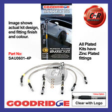 Audi TT 1.8T 4WD (225) Mk1 98-06 Goodridge Plated CLG Brake Hoses SAU0601-4P