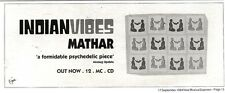 "NEWSPAPER CLIPPING/ADVERT 17/9/94PGN15 4X11"" INDIAN VIBES : MATHAR"