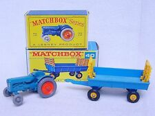 Matchbox Lesney FORDSON MAJOR TRACTOR C-10 Blue Silver Grill #72 MIB`59 FABULOUS