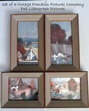FRANKLIN PICTURE COMPANY  Framed Beautiful FOIL PRINTS #7073 & #2006 Set of 4