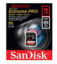 Sandisk Extreme Pro 16GB 16G SD SDHC Memory Card 95MB/s UHS-3 Class 10 HD Video