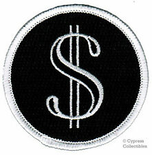 DOLLAR SIGN PATCH embroidered MONEY symbol CASH iron-on applique SYMBOL