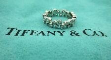 TIFFANY & CO. BUBBLES PLATINUM PT950 DIAMOND BAND RING .96CT SIZE 8 WITH PAPERS!