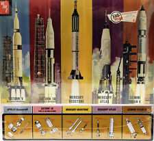 Man in Space Rocket set nasa 5 misiles 1:200 oficina model kit amt700 Apollo Saturn