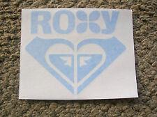 roxy surf surfing surfer girl surfboard sticker decal die cut longboard blue gal
