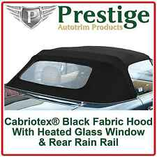 Mazda MX5 Mk1 Glass Window Car Hood Soft Top Roof With Rain Rail 1989-1997