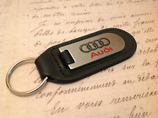 AUDI Key Ring Etched and infilled On Leather  A1 2 4 5 6 7 8 TT R8 Q 3 5 7 RS
