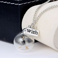 Magical Necklace Real Dandelion Seeds Water Drop