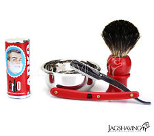 MENS SHAVING SET KIT GIFT DOUBLE EDGE PREMIUM BARBER RAZOR ARKO SOAP & BRUSH