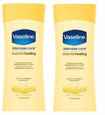 2x Vaseline Intensive Care Essential Healing 400ml Lotion Clinically proven! NEW