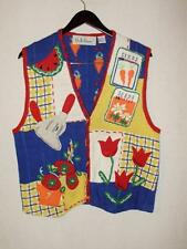 Womens sweater vest-Medium-Summer Gardening-Bellepointe brand