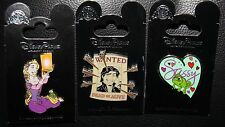 Disney Tangled Rapunzel Lantern Flynn Wanted Pascal Sassy 3 Pin Set