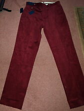 "MENS RALPH LAUREN POLO SUFFIELD CORDS STRETCH CORDUROY TROUSERS W 32"" L 34"" New"