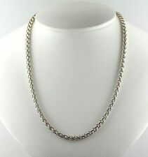 "DAVID YURMAN  Wheat Chain Necklace with 14K Gold-925 18"" Long 6 mm"