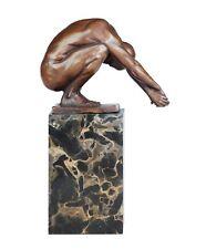 Bronze Skulptur Figur Schwimmer Turmspringer Erotik Mann
