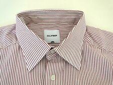 Olymp Luxor Herren Hemd Langarm Weiß Rot Gestreift KW41