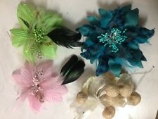 Bulk Sale Wedding Melbourne Cup Carnival Races Fascinator Brooch Pink Blue 15xPC