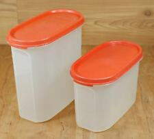 Tupperware 7-1/4 & 3-3/4 Cups Modular Mates 1612 & 1613 Paprika Red Containers