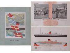 BROCHURE SS DE GRASSE, FRENCH LINE 1948 COMPAGNIE GENERALE TRANSATLANTIQUE