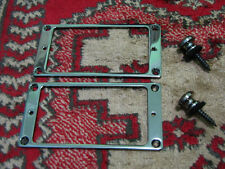 Original Ibanez RG METAL Pickup Ring Set w/ STRAP BUTTONS  in COSMO