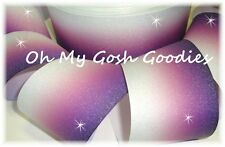"""3"""" GLITTER PURPLE OMBRE CHEER GROSGRAIN RIBBON FOOTBALL 4 TIC TOC HAIRBOW"""