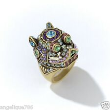 Heidi Daus Glittering Fu Dog Ring Sz10 Gorgeous Must Have Collectors SWAROVSKI!!