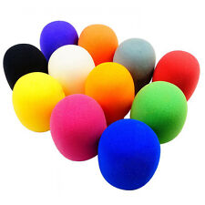 10 Pack Colorful Handheld Stage Microphone Windscreen Foam Mic Cover Karaoke DJ