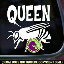 QUEEN BEE Beekeeper Honey Beekeeping Bumper Car Window Sign Vinyl Decal Sticker