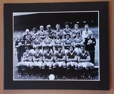 "C1976-77  MANCHESTER UNITED SIGNED PICTURE 12"" x 10"" IN MOUNT DOCHERTY  FORSYTH"