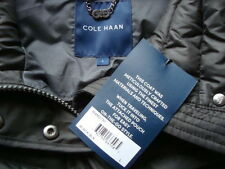 NWT COLE HAAN Light Weight 90% Down Long Coat Jacket With Travel Pouch Sz L