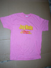 T-SHIRT JOG NUDE it adds color to your cheeks XL PINK Novelty MADE IN USA Cotton