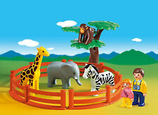 *** Playmobil 1-2-3 123 *** Zoo Animal Set De Juego (6742) *** VGC ***