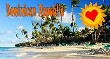 Domincan Republic Fridge Magnet Holiday Gift Holiday Post Card Shape Magnet