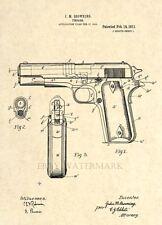 Colt 1911 Official US Patent Art Print - Firearm Browning Gun 45 cal Pistol - 8