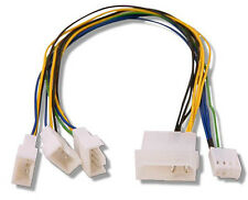 Fan Splitter 4 pin Molex   3 Qty PWM headers 30cm long CONNECT MULTIPLE PWM FANS