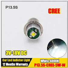 1x NEW 3V-18V CREE LED 5W High Power 200lm P13.5S BULB LAMP LIGHT FOR TORCHLIGHT