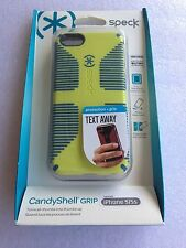 Speck A1654 CandyShell Grip iPhone SE/ 5/ 5S Lemongrass Yellow Harbor Blue