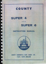 County Super 4 & Super 6 Tractor Instruction Parts Manual