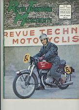 (31A)REVUE TECHNIQUE MOTOCYCLISTE R4C GNOME RHONE / TWIN BMW / ZUNDAPP 200 cc
