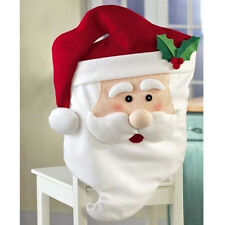 Red Santa hat chair cover Christmas chair cover for home decoration