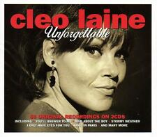 CLEO LAINE - UNFORGETTABLE - 50 ORIGINAL RECORDINGS (NEW SEALED 2CD)