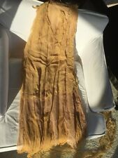 Fairy Costume 1920's Dress Silk Chiffon Fabric Gold & Peach Layers Jumeau Doll L