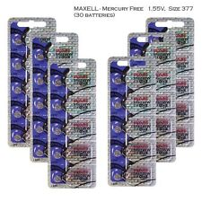 Maxell 377 SR626SW  Silver Oxide Watch Batteries (30 Pcs)