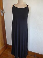 Manque black rayon strappy maxi dress size M, as new, unworn