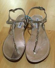 NEW STEVE MADDEN Women's Silver Bling Ankle Strap Fashion Sandals Shoes size 8.5